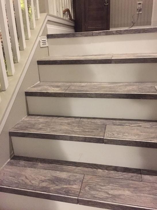 Fantastic Wood Look Tile On Stairs Image 380