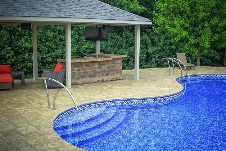 Fascinating Artisan Pool Handrail Photo 948