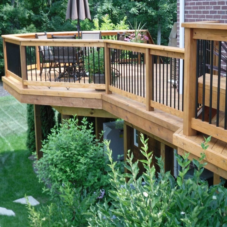 Fascinating Deck Stairs Design Photo 911