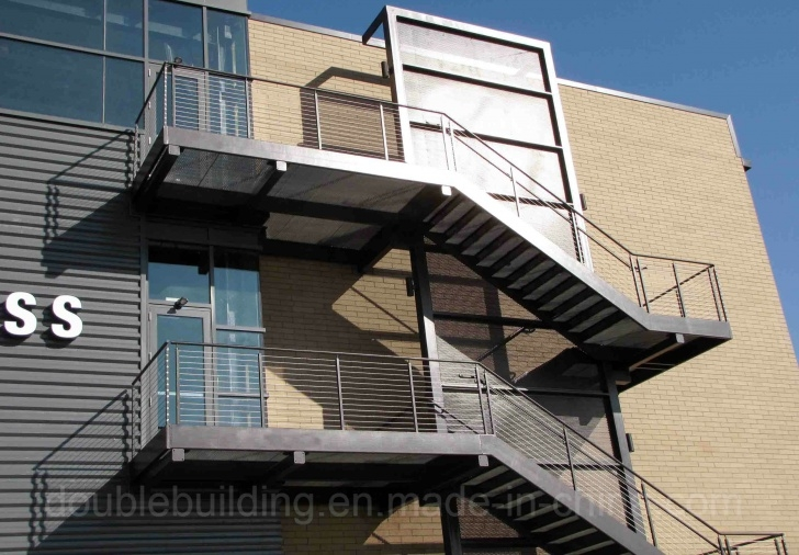 Fascinating Exterior Steel Stairs Photo 641