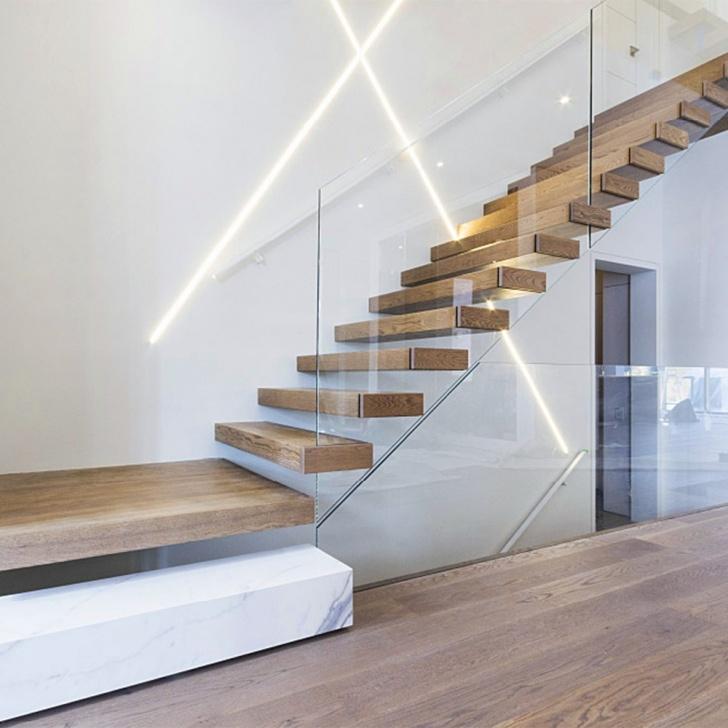 Fascinating Steel Floating Stairs Image 113