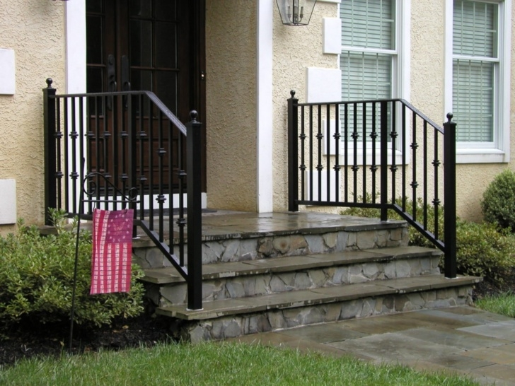 Gallery Of Outdoor Iron Stair Railing Photo 619
