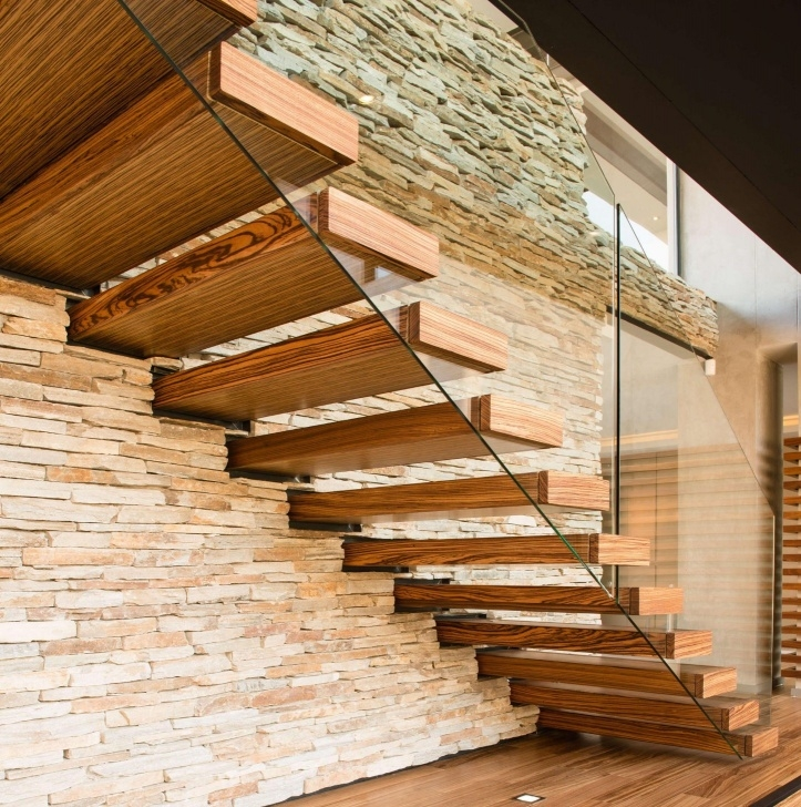 Good Floating Wood Stairs Image 011
