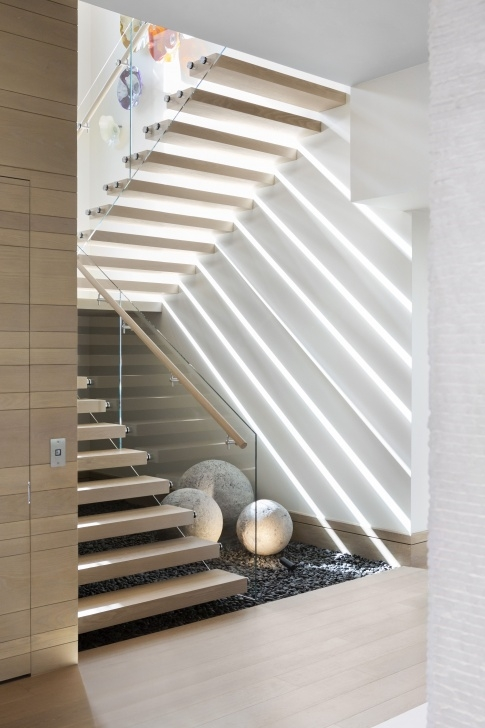 Good Modern Floating Stairs Photo 973