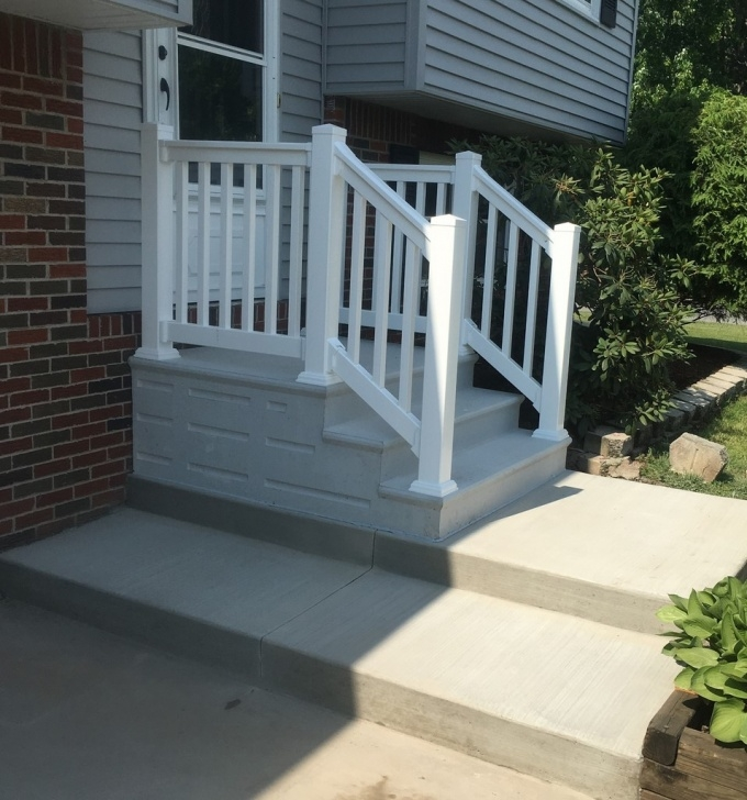 Good Railing For Concrete Steps Image 400