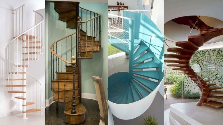 Good Spiral Stairs For Small Spaces Photo 551