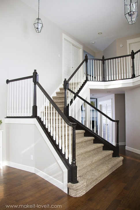 Good Staining Stair Rails Photo 661