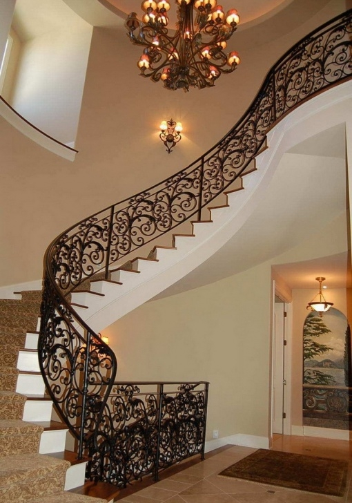 Good Stairs Railing Designs In Steel Picture 023