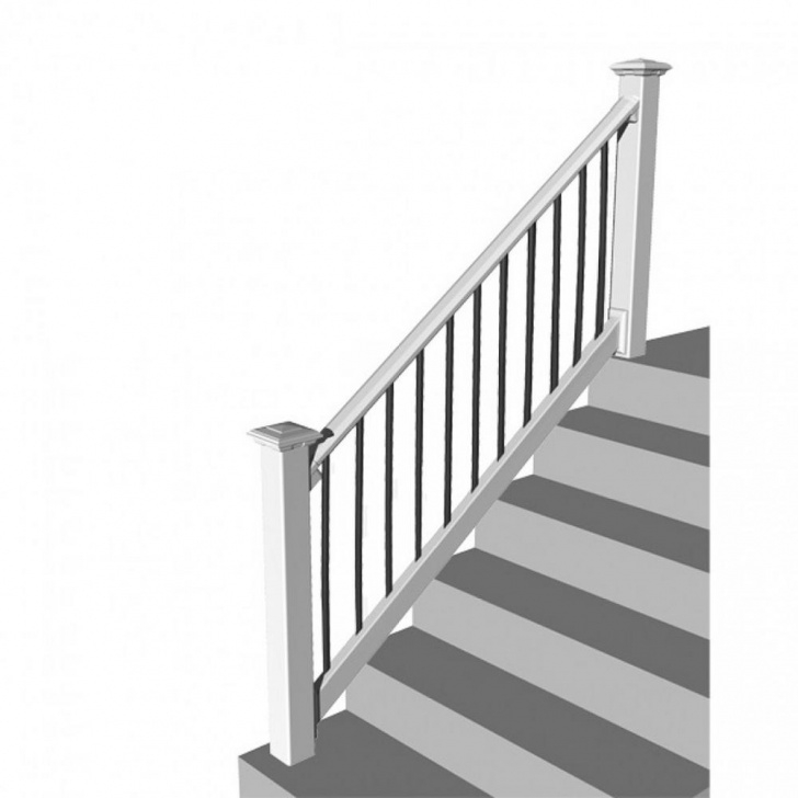 Good White Stair Railing Picture 667