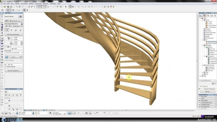 Gorgeous Archicad Spiral Stair Picture 102