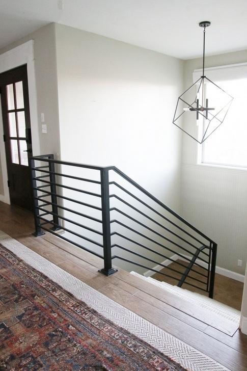 Gorgeous Black Horizontal Stair Railing Image 395