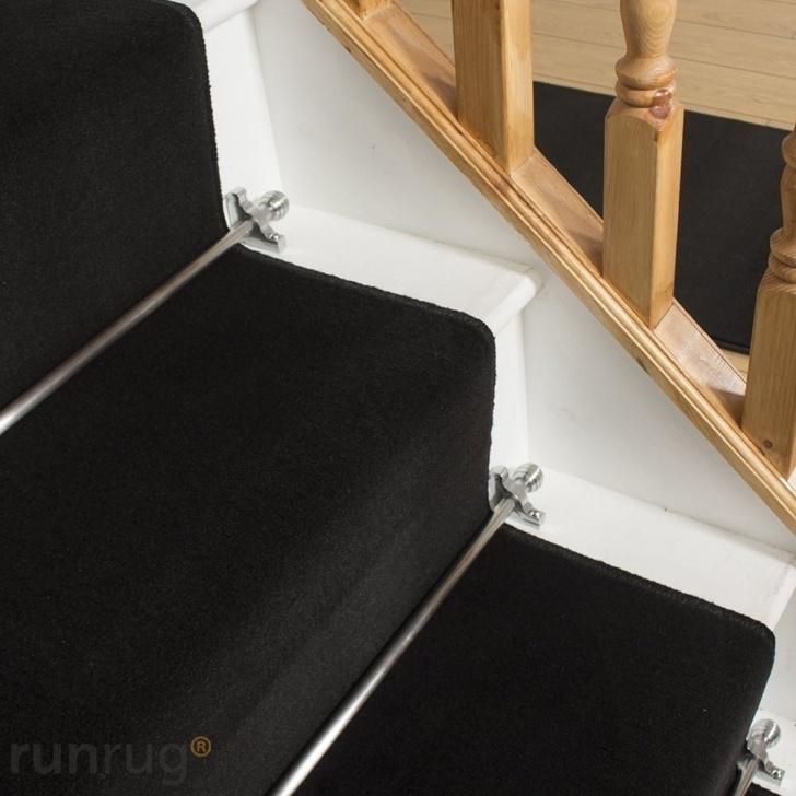 Gorgeous Black Stair Carpet Photo 495