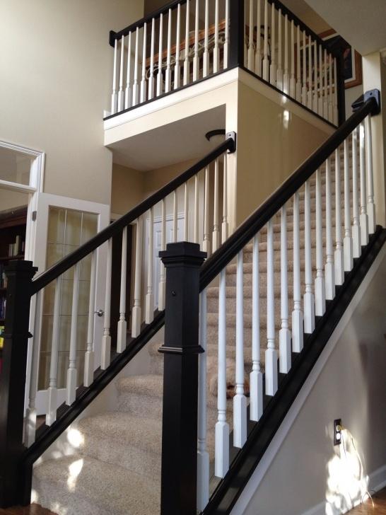 Gorgeous Black Stair Railing Image 046
