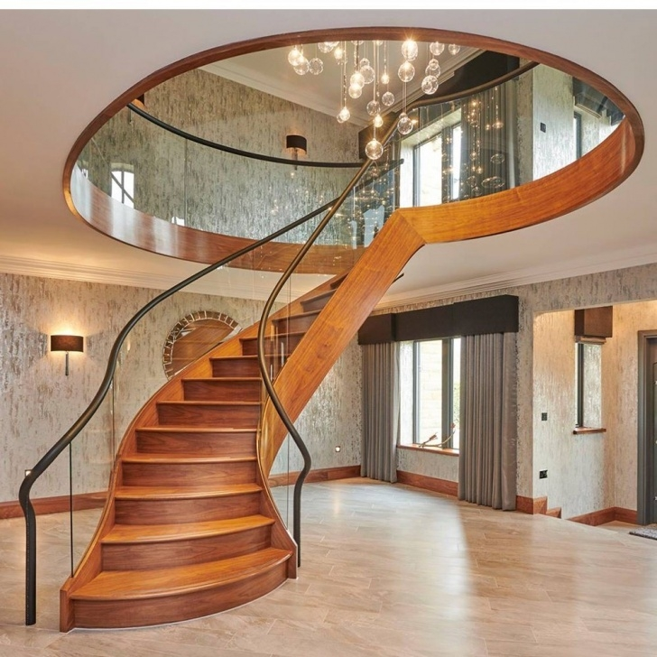 Gorgeous Curved Stair Railing Image 983