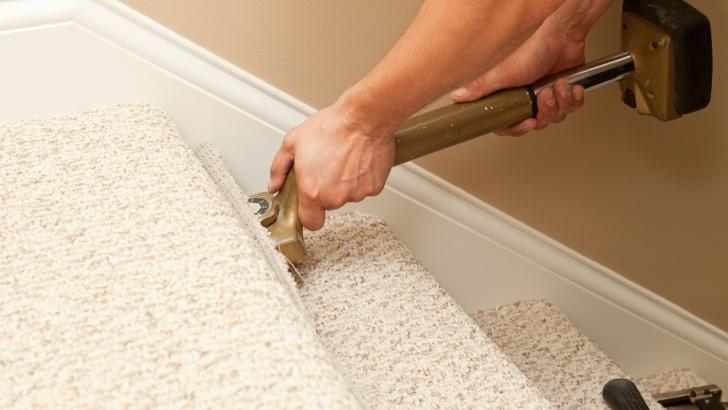 Gorgeous Installing Carpet On Stairs Photo 330