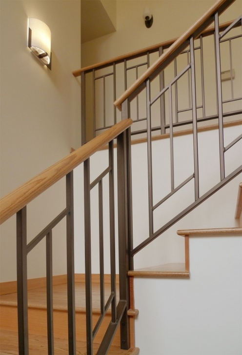 Gorgeous Mid Century Modern Stair Railing Photo 700