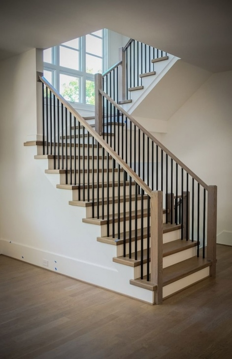 Gorgeous Modern Iron Stair Railing Image 057