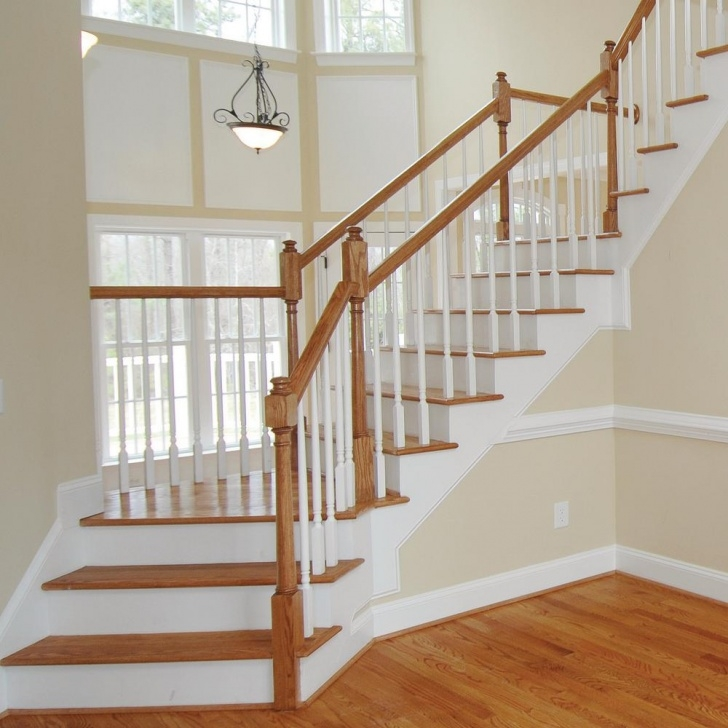 Gorgeous Oak Stair Rail Picture 766
