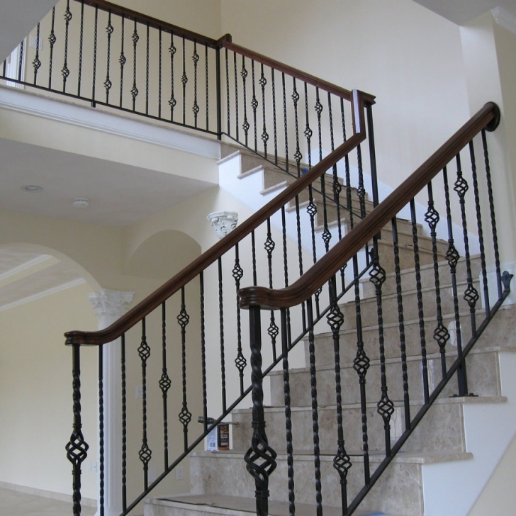 Gorgeous Rod Iron Stair Railing Photo 683