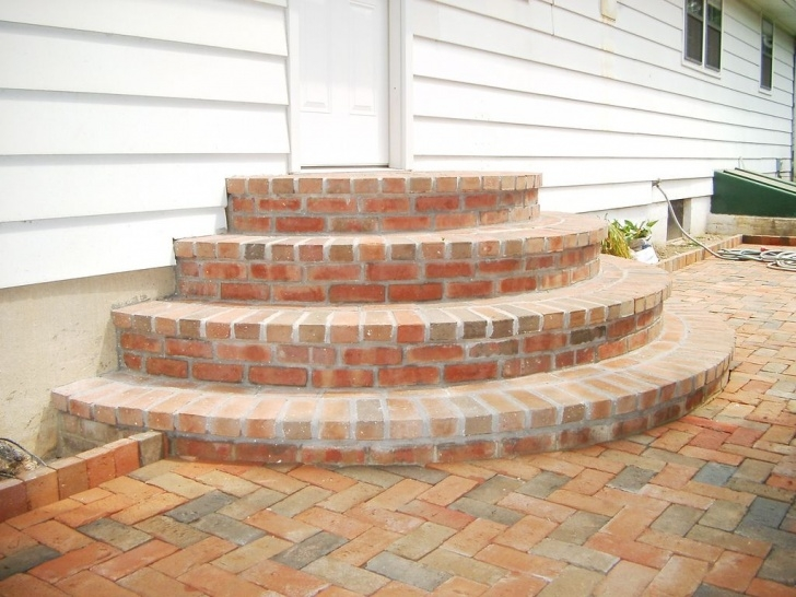 Gorgeous Rounded Patio Steps Image 142