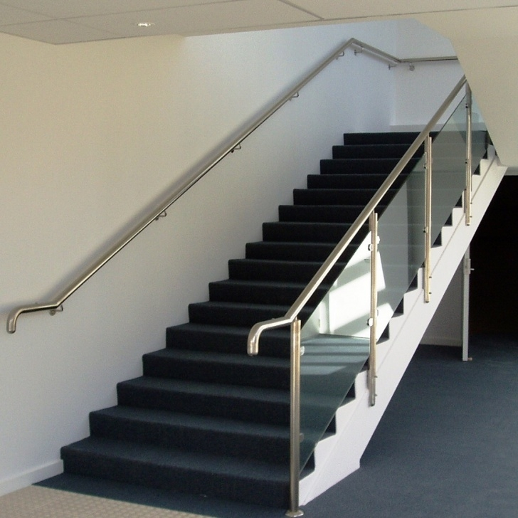 Gorgeous Steel Railing For Stairs With Glass Photo 131