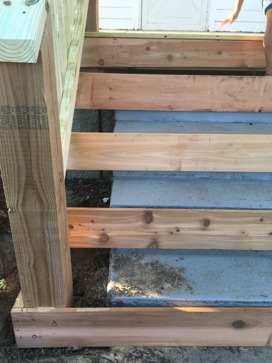 Gorgeous Wood Front Steps Over Concrete Image 757