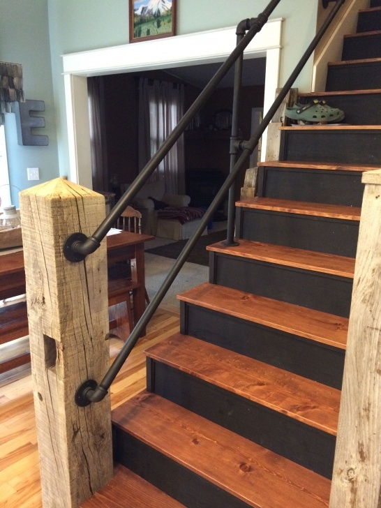 Gorgeous Wooden Handrails For Steps Photo 449