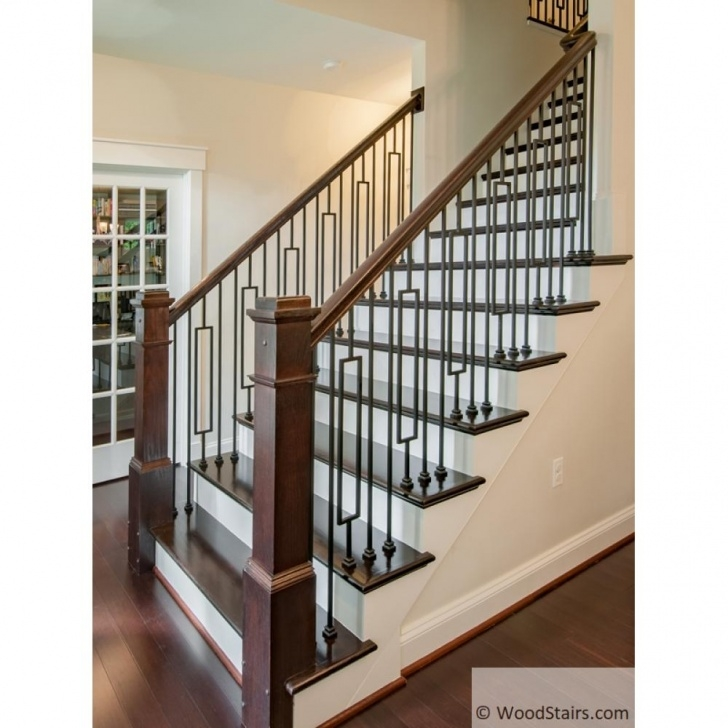 Gorgeous Wrought Iron Newel Post Photo 555