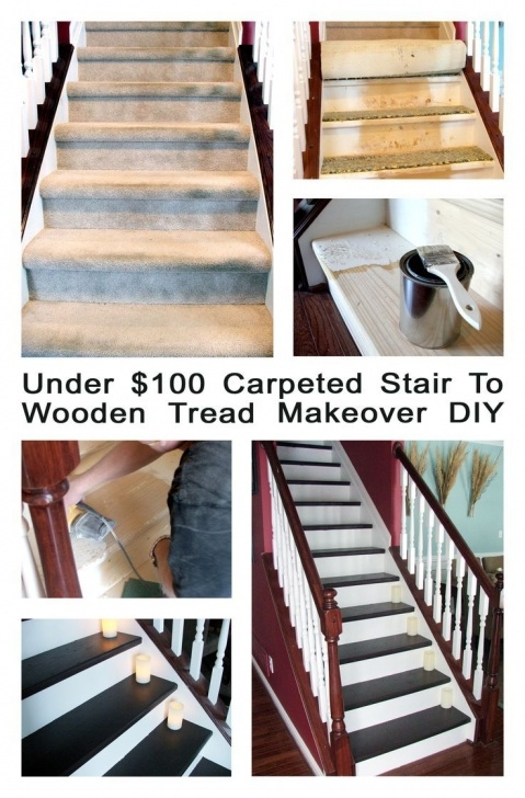 Great Converting Carpeted Stairs To Wood Photo 918