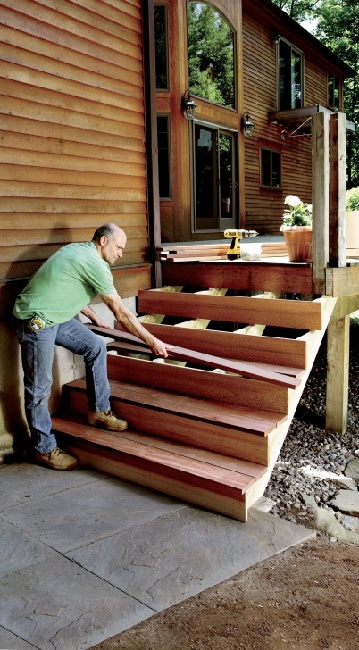 Great Deck Stairs Design Photo 977