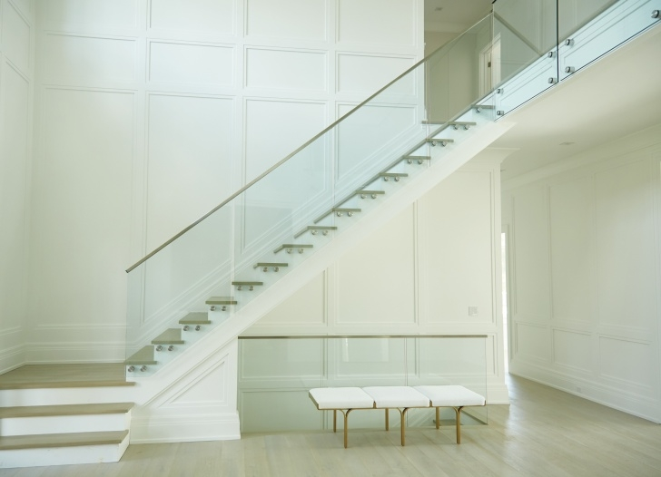 Great Glass Stair Railings Interior Picture 470