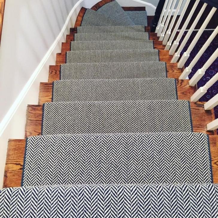 Great Herringbone Stair Runners Image 532