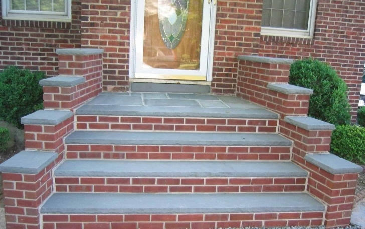 Great Ideas Front Door Brick Steps Design Image 115
