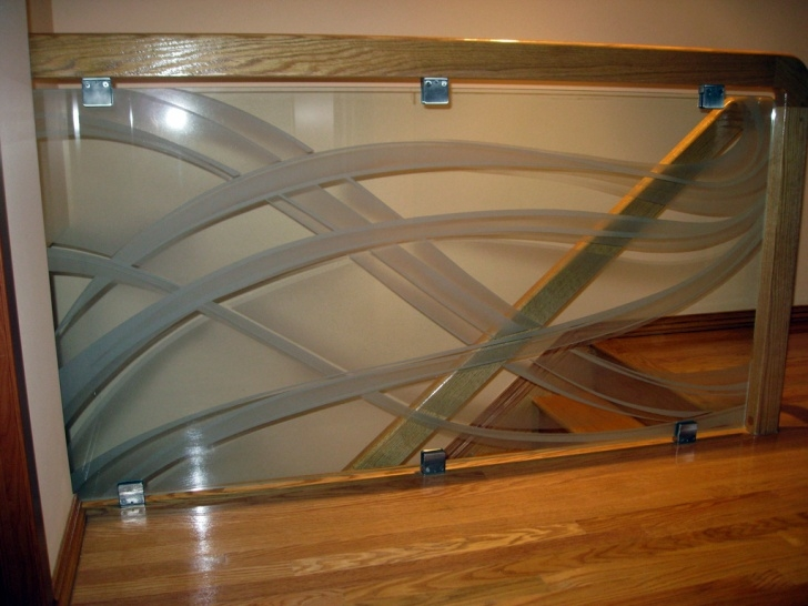Great Ideas Glass Etching Designs For Staircase Photo 720