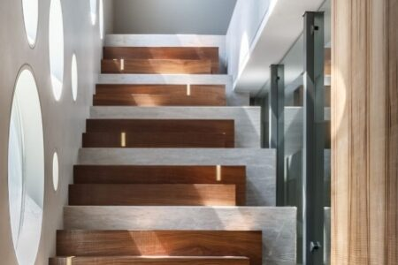 Wood And Concrete Stairs