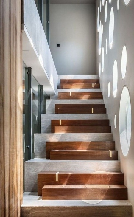 Great Modern Wood Stairs Photo 539