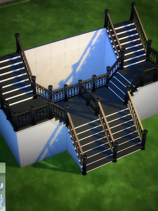 Great Sims 4 Stair Railing One Side Picture 839