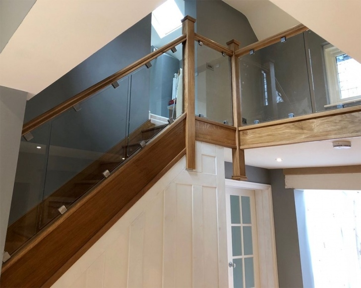 Great Wooden Staircase With Glass Panels Image 959