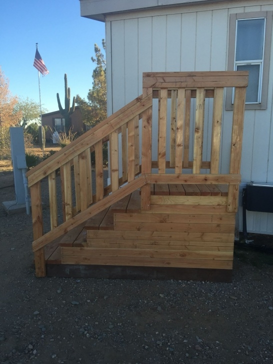 Great Wooden Stairs For Mobile Home Photo 366