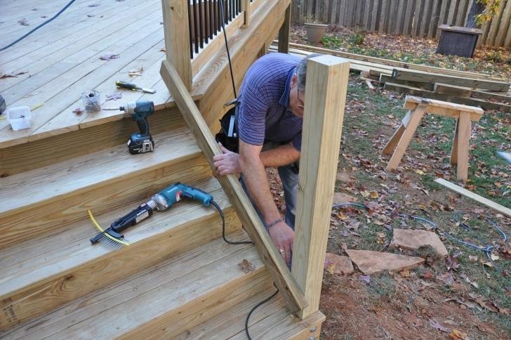 Imaginative Decking Steps Handrail Photo 932