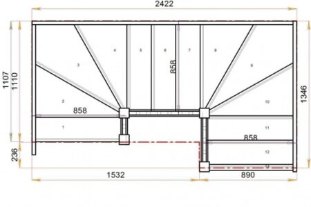 Double Winder Staircase Plans