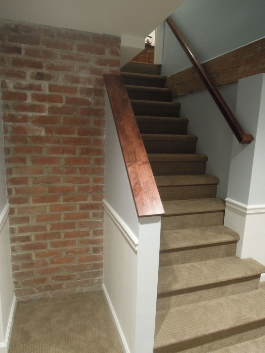 Imaginative Finishing Basement Stairs Picture 039