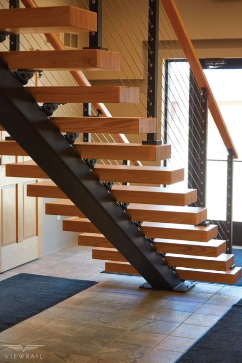 Imaginative Modern Floating Stairs Photo 819