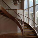 Imaginative Round Stairs Railing Design Photo 271