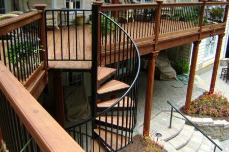 Spiral Deck Stairs
