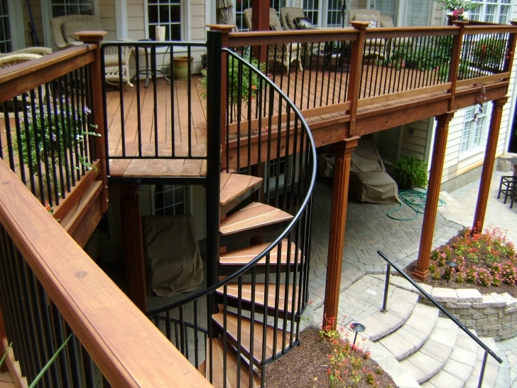 Imaginative Spiral Deck Stairs Image 137