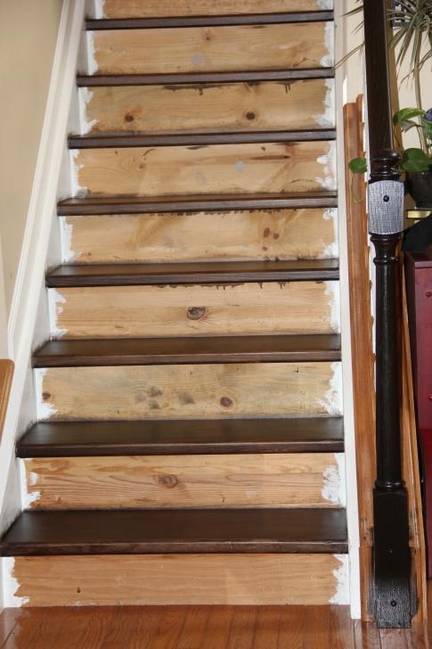 Imaginative Staining Wood Stairs Image 327