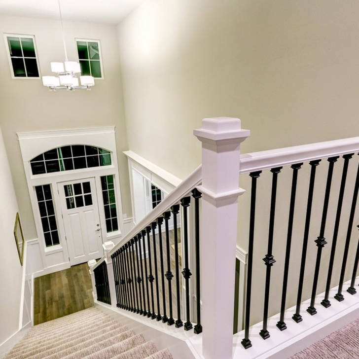 Imaginative White Staircase Spindles Photo 171