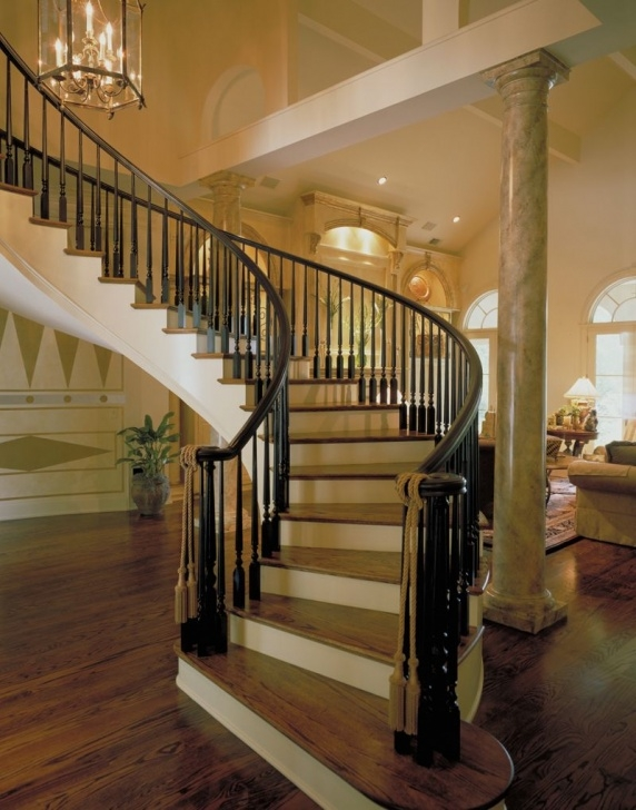 Innovative Curved Staircase Design Plans Photo 711