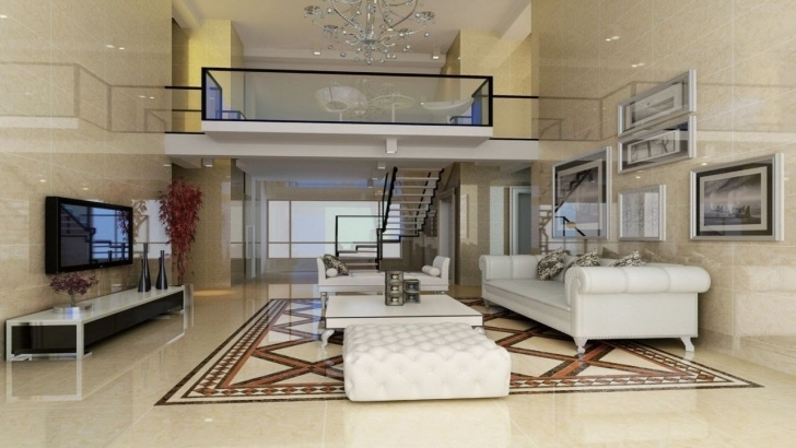 Innovative Duplex Living Room With Stairs Photo 895
